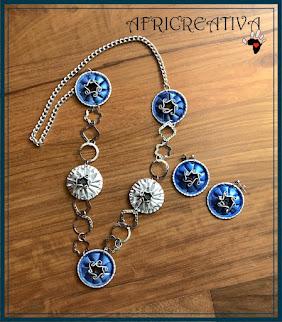 Parure azzura e argento