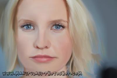 Digital Painting tutorial photoshop Wajah Wanita Agar lebih Menarik