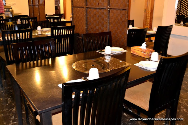 interiors of Hyu Korean Restaurant in Oud Metha