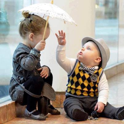 Funny Boy And Girl Baby Funny , Sad , R...