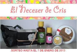 """Sorteo en el blog """"El neceser de Cris"""""""
