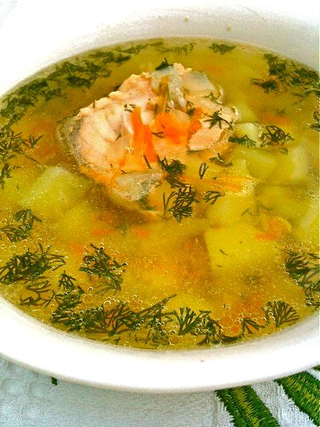 Рыбный суп из красной форели.