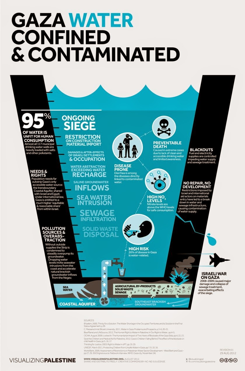 9 Graphics to Help You Understand What Life Is Really Like in Gaza - Food insecurity and water shortages are a fact of life in Gaza.