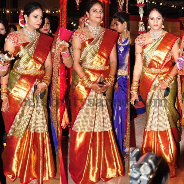Revanth Reddy Wife at her Daughter Wedding