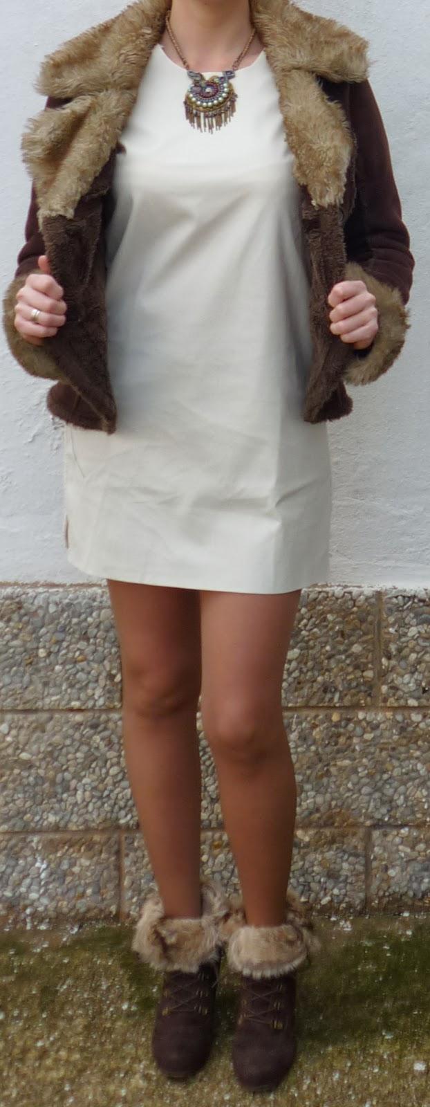 vestido blanco invierno