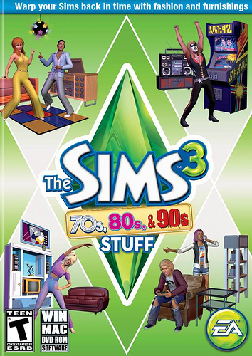 The Sims 3 70s 80s and 90s Stuff FLT