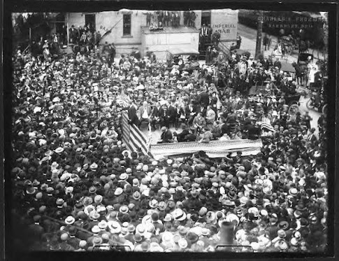 Theodore Roosevelt Campaign at Sandusky, Ohio, May 1912