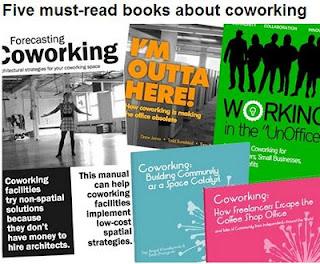 Cinco libros sobre coworking