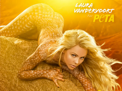 Laura Vandervoort nude for PETA hot ass sexy arse beauty naked