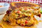 Bacon and Fried Green Tomato Pimento Grilled Cheese