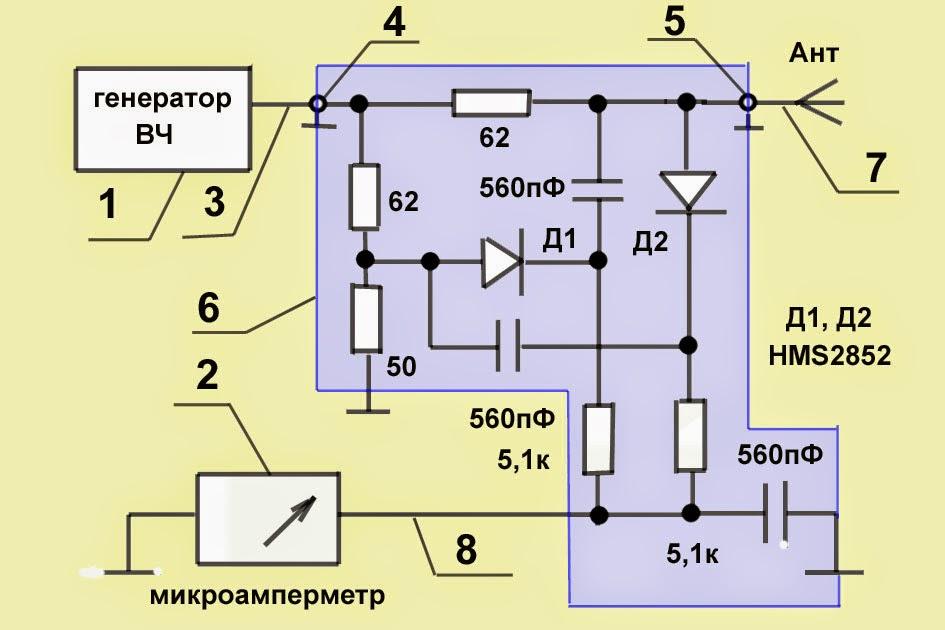Ксв метр 27 мгц схемы