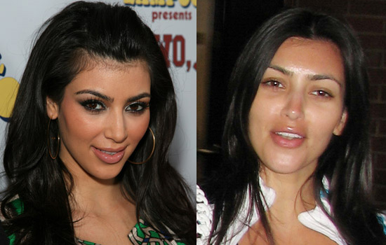 megan fox without makeup ugly. kim kardashian no makeup 2011.