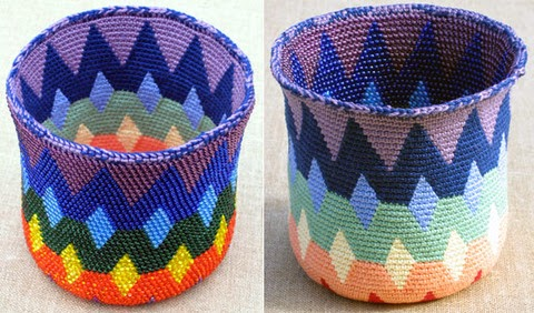 Tapestry Crochet : BeadBag: Tapestry Crochet