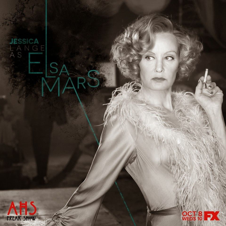 Jessica Lange as Elsa Mars in American Horror Story Freak Show Season 4 Episode 2 Massacres and Matinees