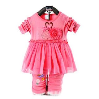 Contoh Baju Stelan Bayi Lucu Perempuan Cantik Warna Pink 2015
