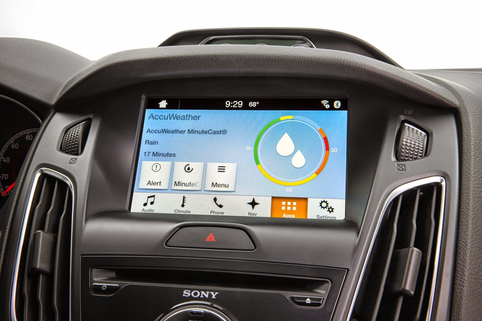 AccuWeather MinuteCast for Ford SYNC Offers Hyper-Local Weather Forecasts Minute-by-Minute