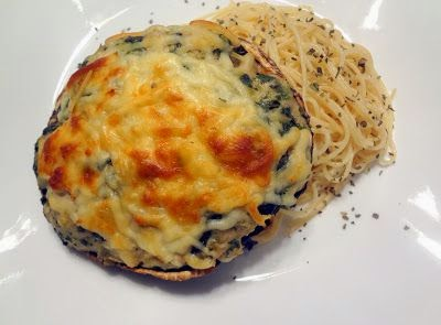 Low Calorie Italian Chicken Stuffed Portabella Mushrooms Recipe