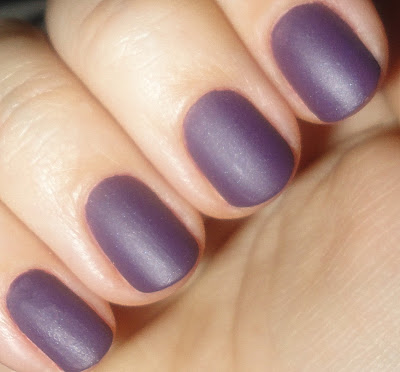 orly purple velvet nail polish swatches and review