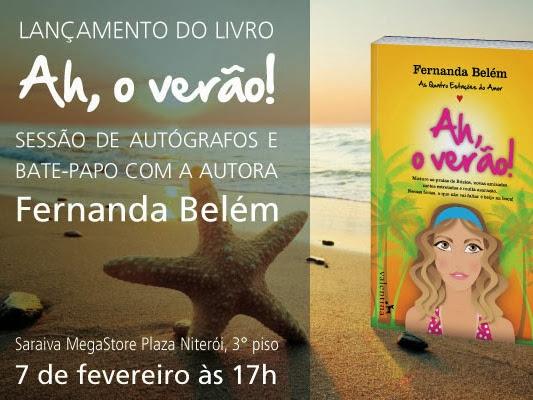Lançamento do livro Ah, o Verão! de Fernanda Belém e Editora Valentina em Niterói