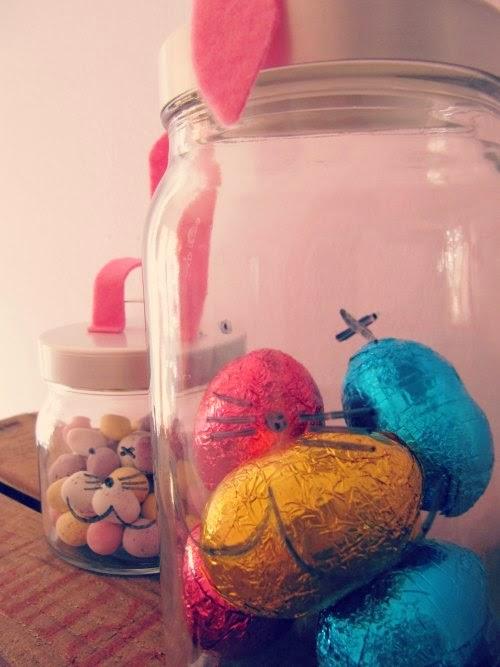 Tarros para huevos de Pascua