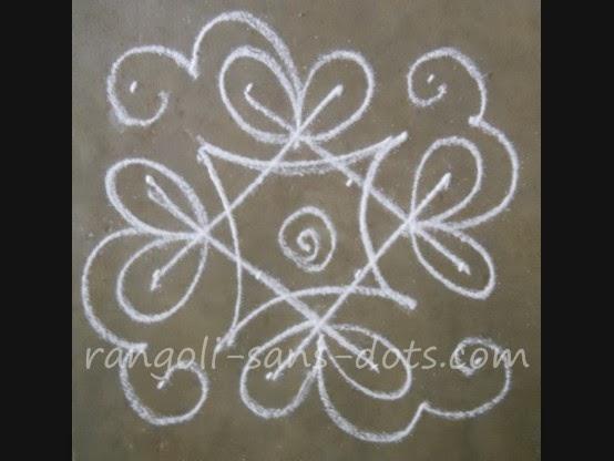 Kolam by sudha balaji simple apartment kolam designs for Door rangoli design images