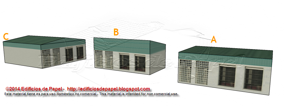New design of Logistic Warehouse paper model