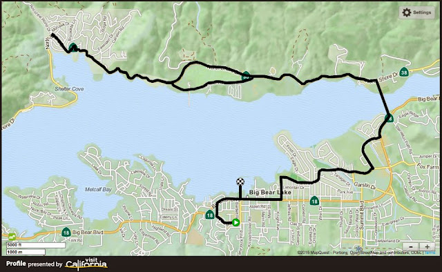 Bige Bear Lake Time Trial route map