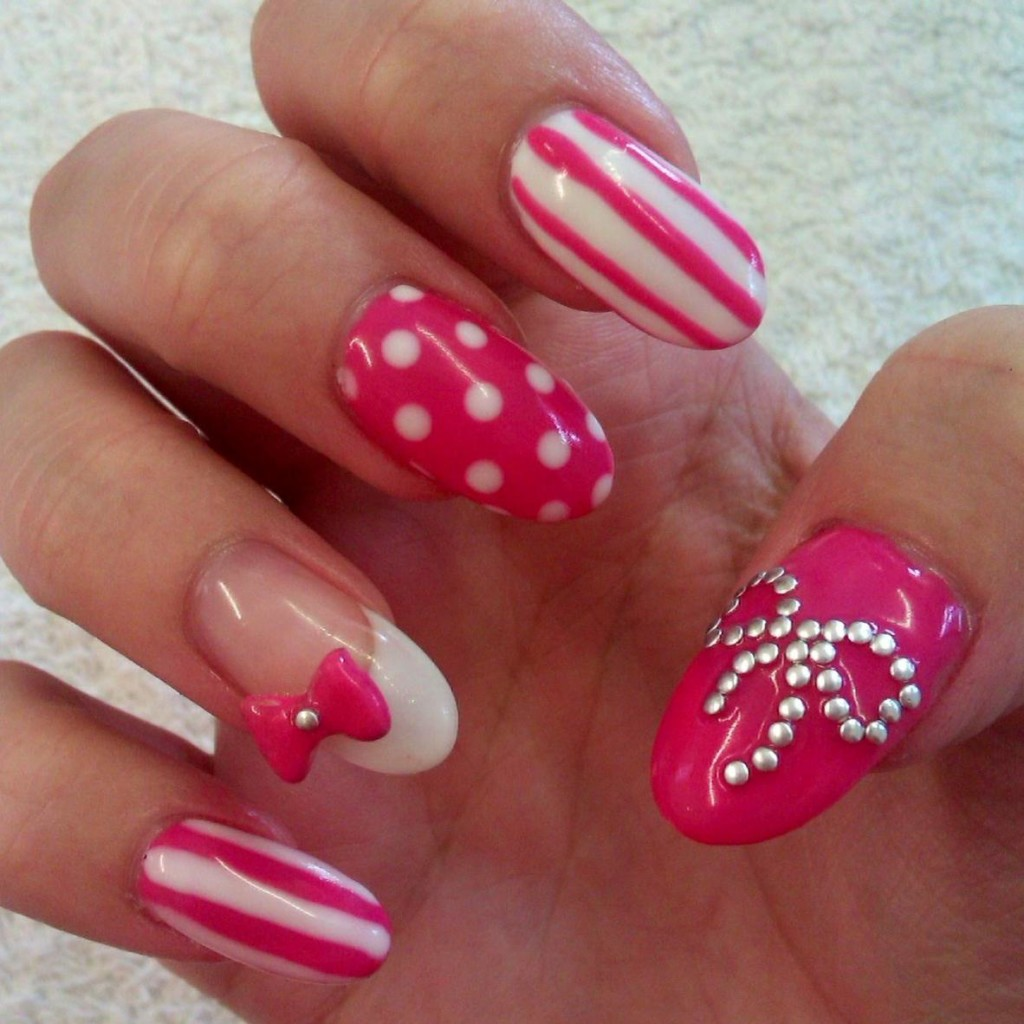 Nail Designs With Rhinestones And Bows Hireability