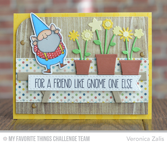 Gnome One Else Card from Veronica Zalis featuring the Birdie Brown You Gnome Me stamp set and DIe-namics and Spring Garden Die-namics