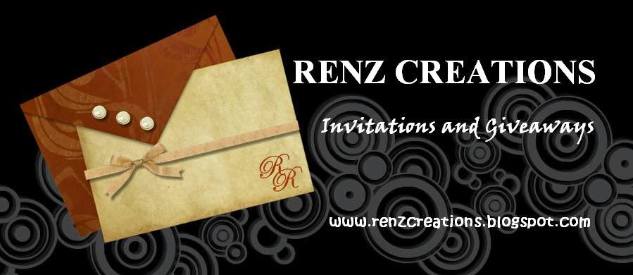Renz Creations: Invitations and Giveaways