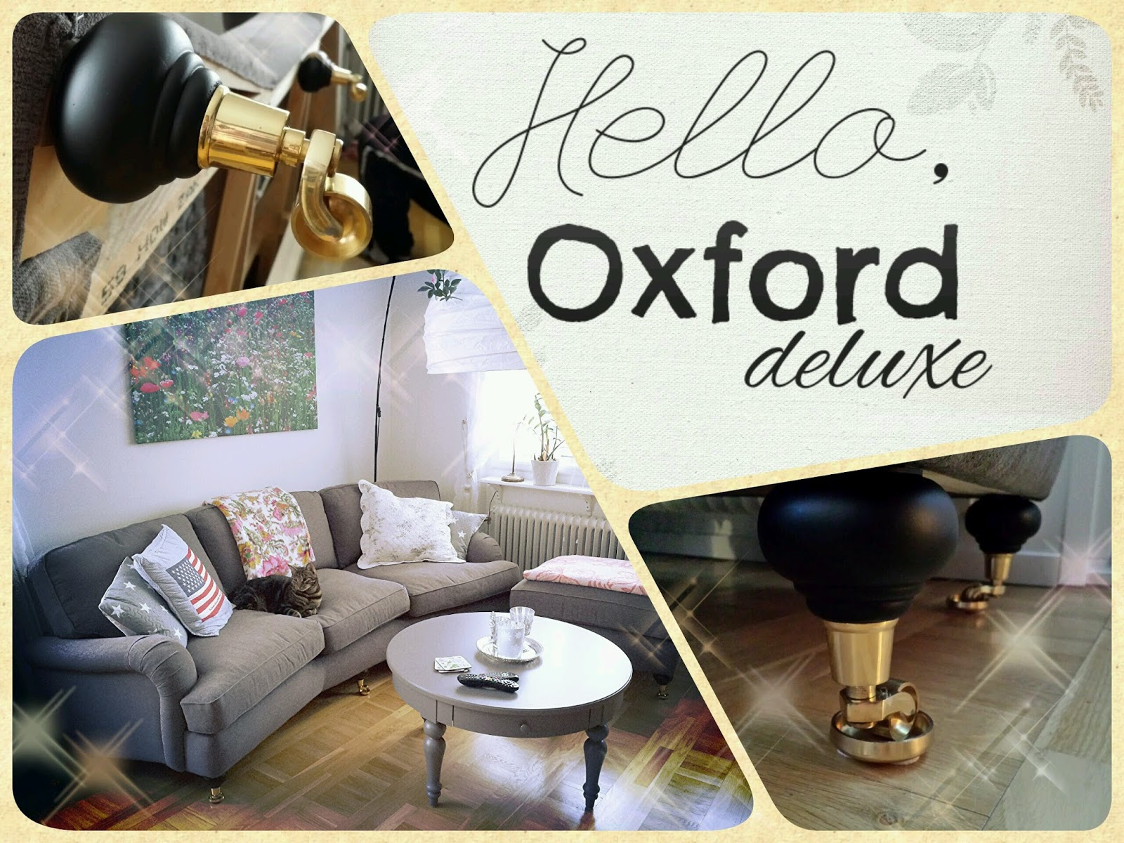 mio, howard, soffa, couch, oxford delux, black and gold, svart och guld