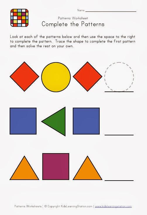 Pattern Recognition Worksheets | روضة العلم للاطفال
