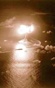 Explosión en el mar