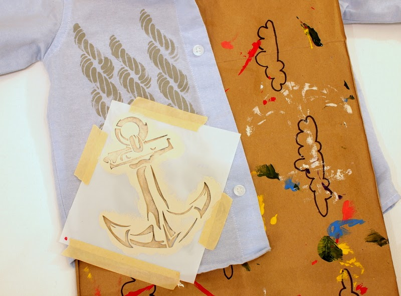create a layered look with your stencils