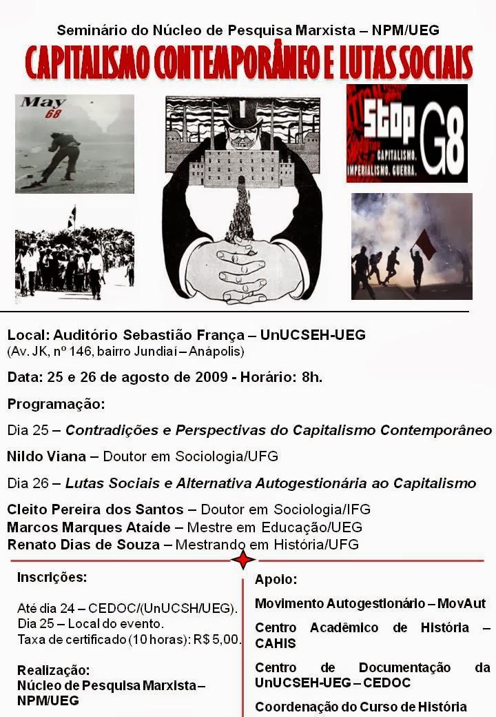 Seminário Capitalismo Contemporâneo e Lutas Sociais