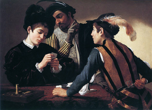 caravage tricheurs painting