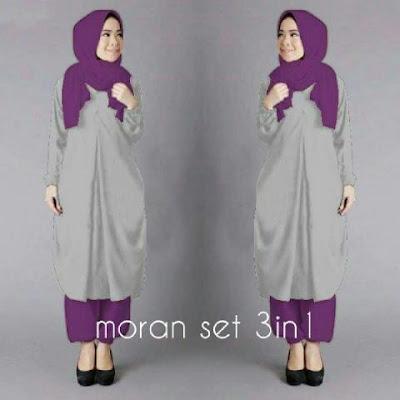 Plus Jilbab / Kerudung 3 in 1 Moran Set Hijab - 10442