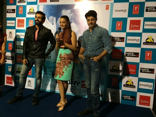 Surveen Chawla, Jay Bhanushali and Sushant Singh promote Hate Story 2 in Bangalore