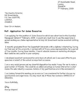 job application letter 1
