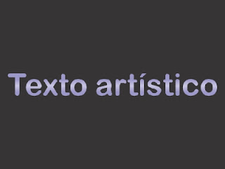 Exemplo de texto artístico no CorelDRAW