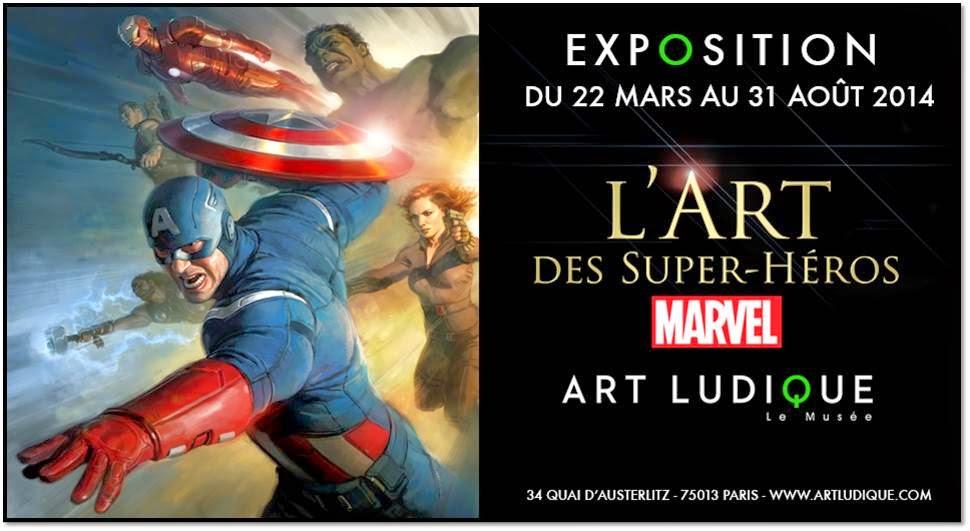 super-héros expo Marvel Stan Lee affiche Art Ludique Cité mode et du design Paris 13
