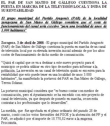 El blog de san mateo de g llego actualizado 9 de mayo de - El tiempo en san mateo de gallego ...