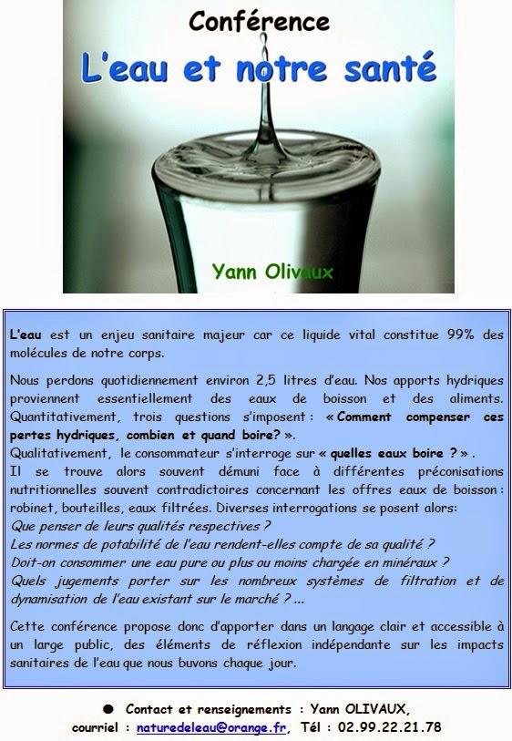 La nature de l 39 eau pr sentation de la conf rence l 39 eau - Eau en bouteille vs eau du robinet ...