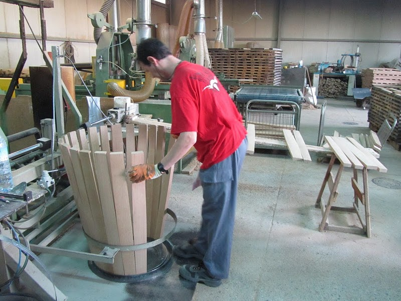 botas de construcción de madera