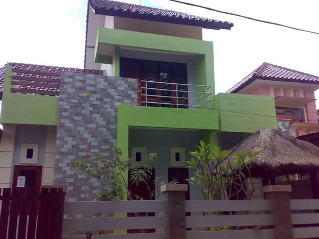 rumah minimalis hijau