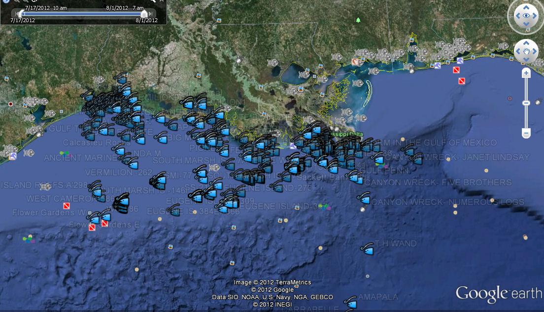 Louisiana Offshore Fishing Maps