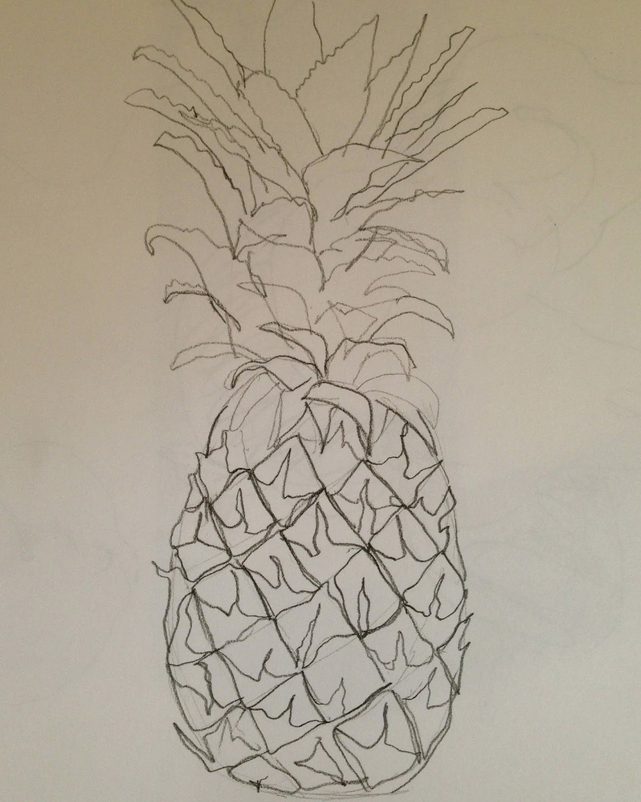 Pineapple Drawing For Kids For this pineapple i looked upPineapple Drawing For Kids