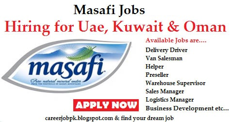 Jobs in Masafi Uae & Gulf Countries