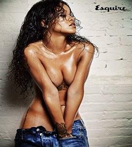 Que calor! Rihanna posa de topless para revista
