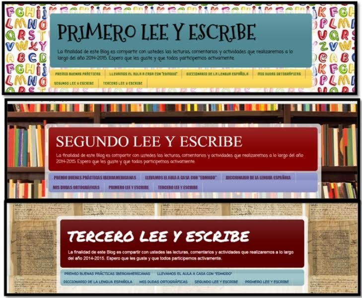 Estos son los logos de nuestros blogs